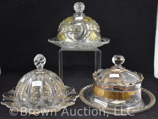 3  EAPG cov  butter dishes