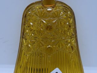 EAPG amber Daisy and Button whisk broom pickle dish