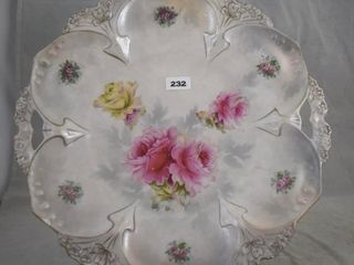 R S  Prussia Mold 82 11 d cake plate  red mark