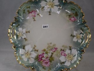 R S  Prussia 9 5 d cake plate  red mark