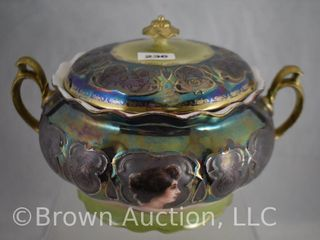 Beautiful OS Tiffany Portrait biscuit jar