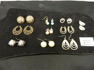 Pierced Earring Assortment  10 pair