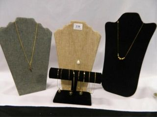 Necklaces w Goldtone Chains