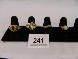 Fashion Rings   4  Assorted Styles