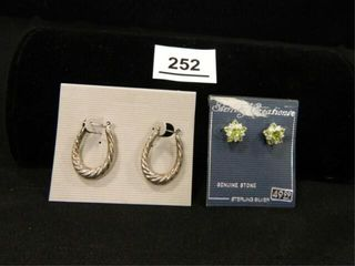 Sterling Pierced Earrings  per seller