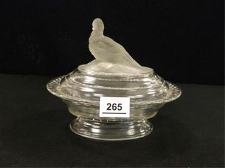 EAPG Antique Dove Compote
