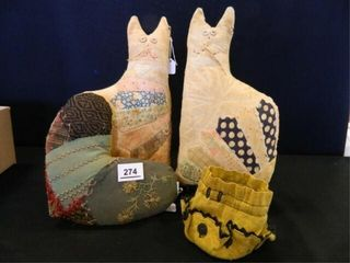 Primitive Cats from Quilts