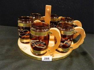 Western Decor Mugs w Tray