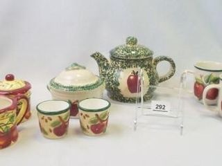 Apple Mugs  Teapot  Serving Pieces  11