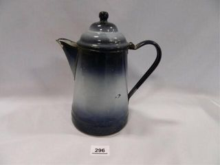 Blue Graniteware Coffee Pot