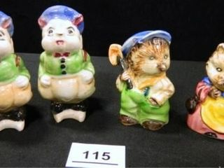 Salt   Pepper Shakers  Japan  2 sets