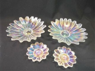 Iridescent Bowls  Candle Holders  4