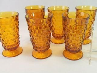 Amber Footed Glasses  6