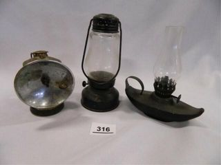 Miner s light  lantern  Oil lamp