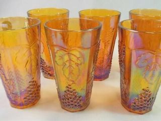 Carnival Glass Drinking Glasses  6   6