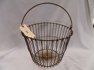 Primitive Egg Basket  Metal