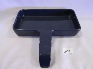 Frankoma Tray w Handle  Blue