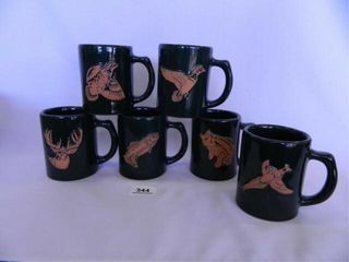 Frankoma Wildlife Mugs   6