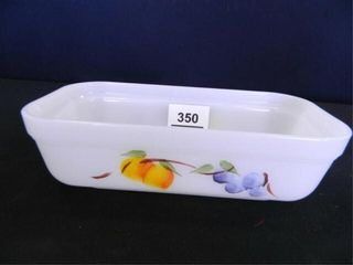 FireKing Baking Dish w Fruit Design