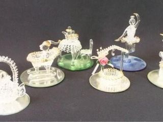 Spun Glass Art Figures  8