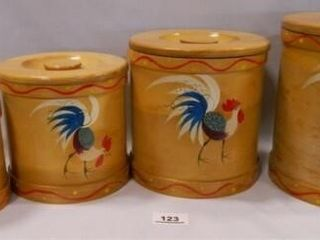1950 s Wooden Canister Set