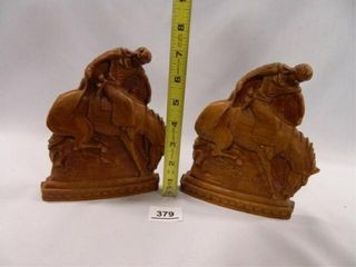 Cowboy Western Theme Bookends