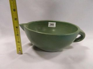 Teal Crock Batter Bowl  Vintage
