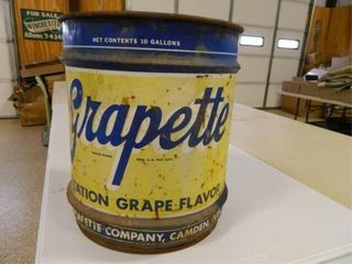 Grapette 10 Gallon Metal Can