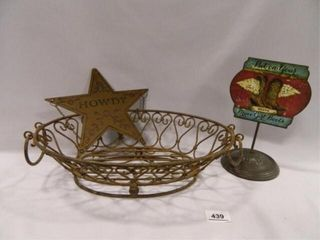 Metal Oblong Basket  Howdy Star