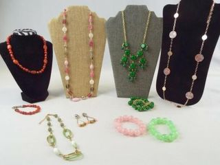 Jewelry  Pink Green  Red Tones  10