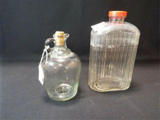 Glass Water Bottle  Vinegar Jar