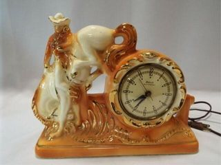 Gibraltar Oxford Bronc Electric Clock