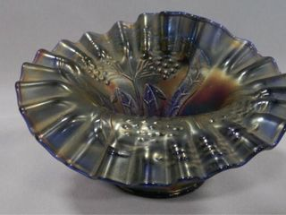 Carnival Glass Bowl w Ruffled Edge