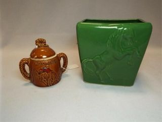 Horse Green Planter  Wyoming Sugar Bowl