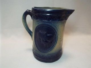 Salt Glazed Cow Stoneware Pitcher  8