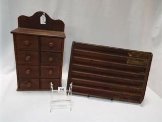 Wood Spice Cabinet  Printer Tray  IJ