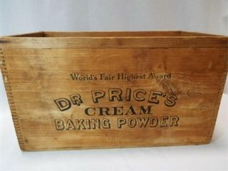 Dr  Price s Baking Powder Wood Box