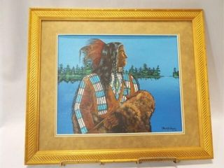 Native American Painting  Framed