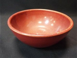 Red Stoneware Bowl  8