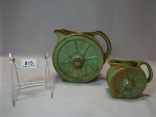 Frankoma Wagon Wheel Pitcher  Creamer