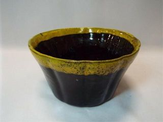 Salt Glazed Yellow Ware Bowl  8 5