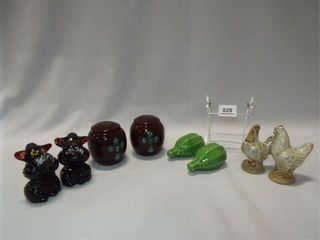 Salt   Pepper   3 sets  Chicken Figurines  2