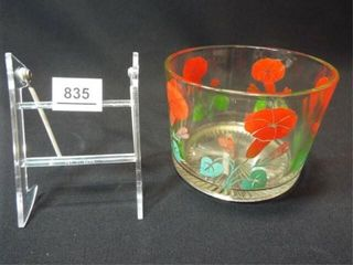 1950 s Glass Floral Serving Bowl  6