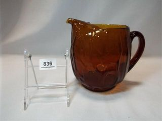 Amber Glass Pitcher  7