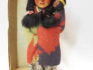 1940 s Skookum Doll in box  10 5