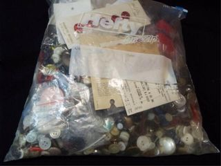 Bag of Buttons  Gallon size