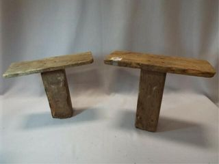 Primitive Wood Milking Stools  2