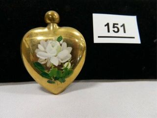 Brass Heart Shaped Snuff Bottle