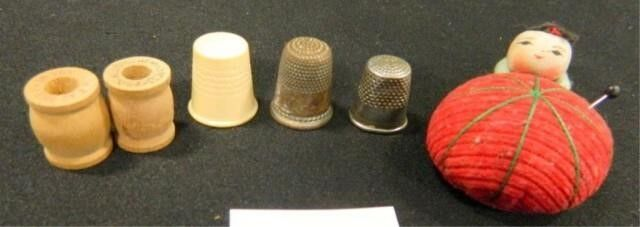 Pincushion  Thimbles 3  Tiny Spools