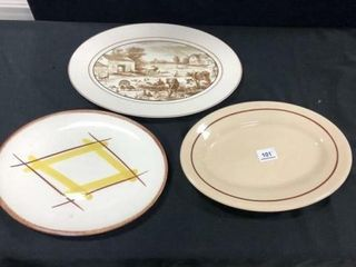 Platters  Includes  Buffalo China